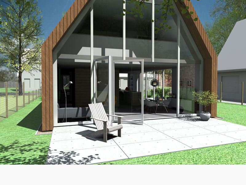 ontwerp moderne schuurwoning