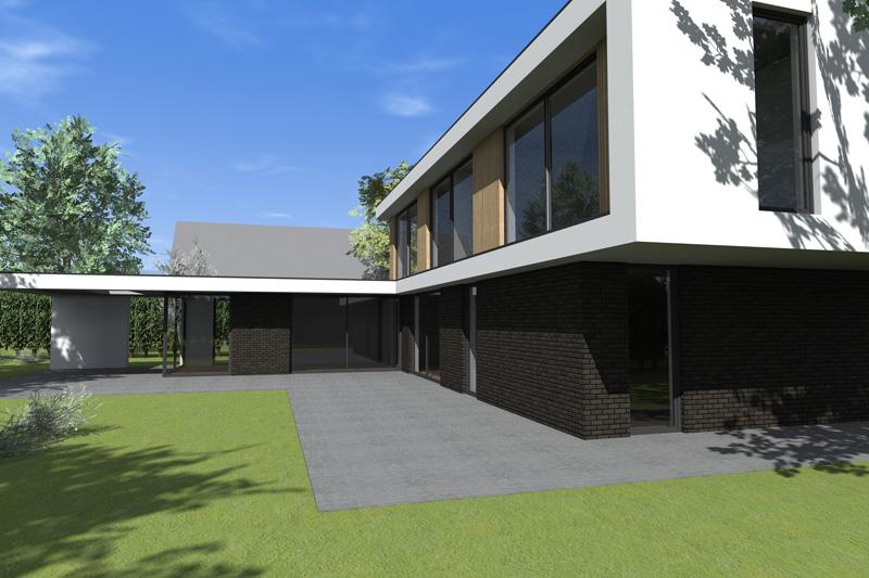 ontwerp kubistische woning Almere