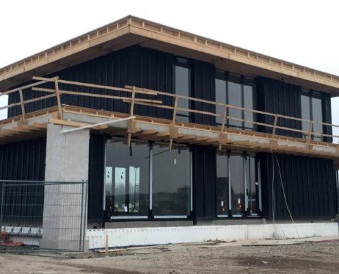bouw moderne kubistisch woning Almere