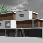 Nieuwbouw moderne kubistische villa kavel Nieuwveen